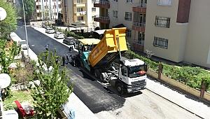 Başharık'ta sıcak asfalt çalışması