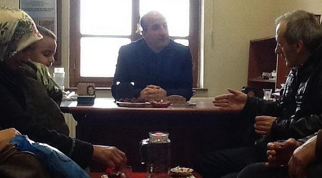 YEŞİLDERDenekler Masası şefi İhsan Ercan'ı ziyaret etti