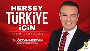 """Dr.Mercan """" Malatyalıların sorunlarını ayırım yapmadan çözeceğiz"""""""