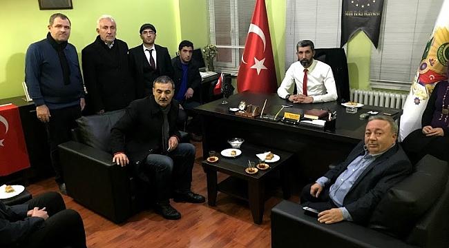 MHP Kuluncak Belediyesi A. Adayı Mehmet Kul Milli Beka Hareketini Ziyaret Etti
