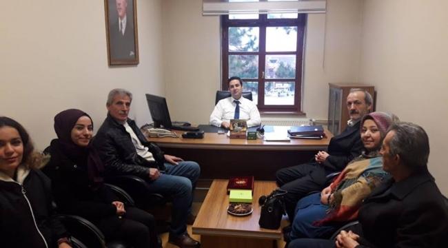 YEŞİLDER'den Kaymakam Gülenç'e hayırlı olsun ziyareti