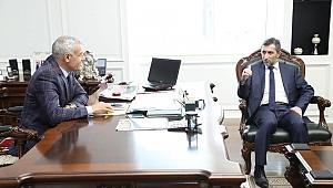 Koop İş sendikasından, Başkan Güder'e hayırlı olsun ziyareti