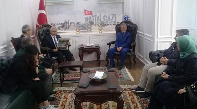 YEŞİLDER'den, Başkan Güder'e hayırlı olsun ziyareti