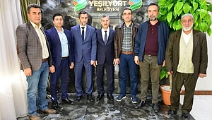 Koop İş sendikasından, Başkan Çınar'a hayırlı olsun ziyareti