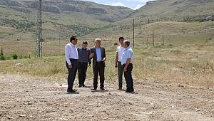 Başkan Güder yeni yol açma çalışmalarını inceledi