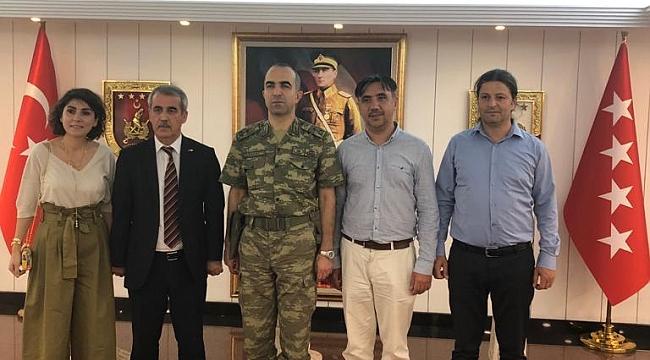 Tuğgeneral Hançeri Sayat'a veda ziyareti