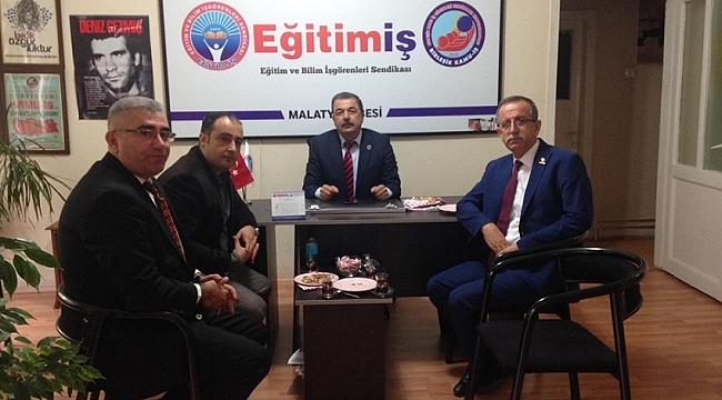 Eğitim İş Sendikası Genel Başkanı Orhan Yıldırım Malatya'yı ziyaret etti