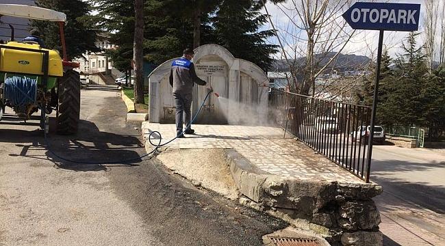 Arapgir Belediyesi dezenfekte çalışmalarına devam etti