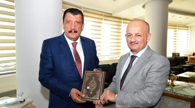 Başkan Gürkan, Mevlid-i Nebi Haftasında, Müftü Işıldar'ı ağırladı