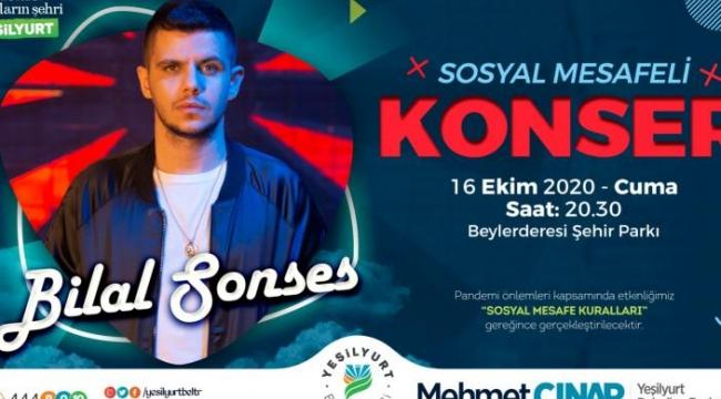Bilal Sonsöz Yeşilyurt'ta konser vrecek