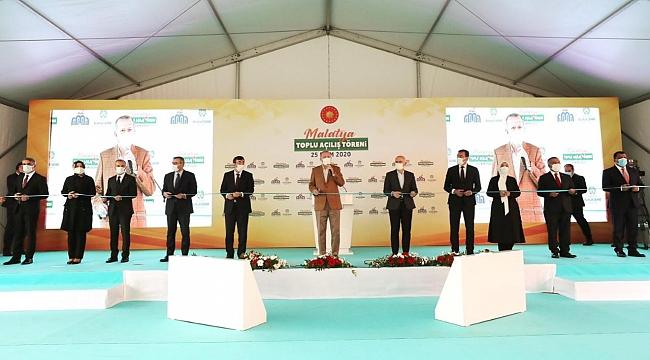 Cumhurbaşkanı Erdoğan Malatya'da toplu açılış yaptı