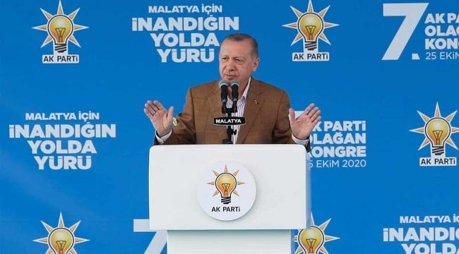 Erdoğan, Malatya'dan dünyaya mesaj verdi