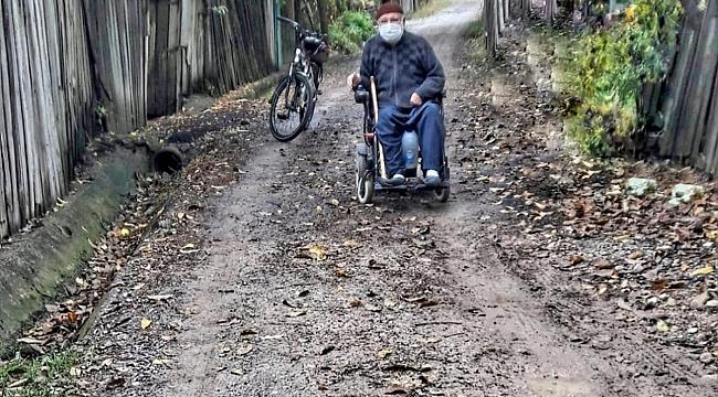 Engelli şehit babasına, büyükşehir'den jest