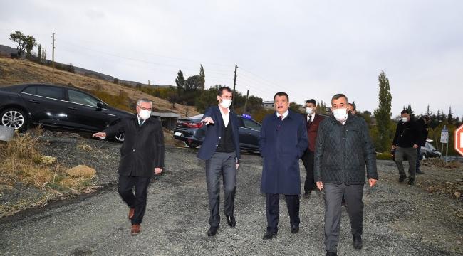 Pozkıran'a asfalt serimi